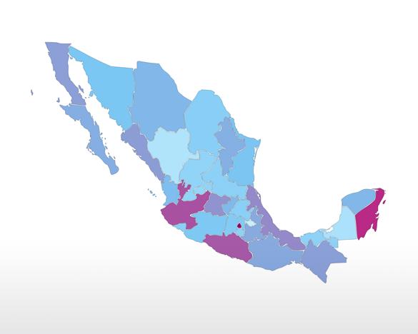 Mapa del Turismo en México