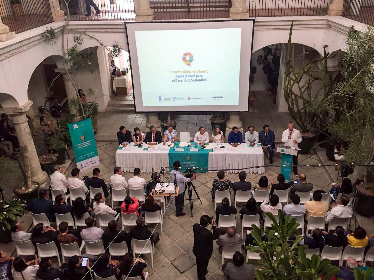 Presentación en Oaxaca del Programa de Formación de Agentes Locales de Cambio en Gobierno Abierto y Desarrollo Sostenible