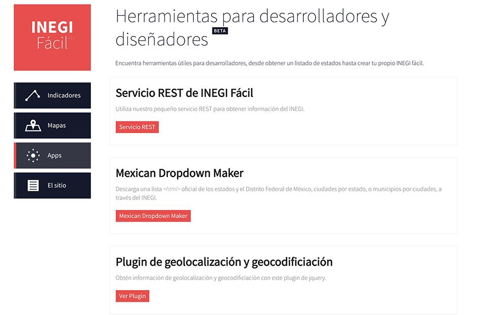 INEGI Fácil: Apps